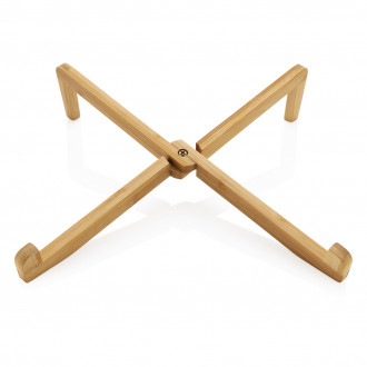 Bamboo portable laptop stand