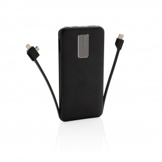 10.000 mAh powerbank with integrated cable