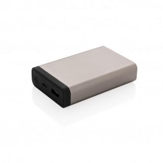 10.000 mAh Aluminium pocket powerbank