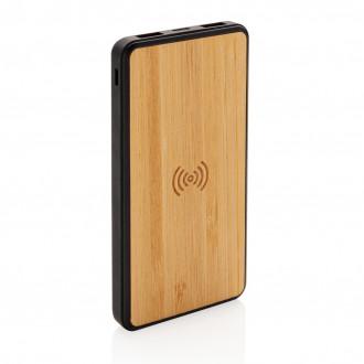 Bamboo 8000 mAh Wireless Charging Fashion Powerbank