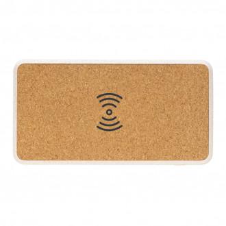 Cork and Wheat Straw 8.000 mAh 5W wireless powerbank