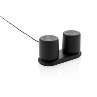 Double induction charging speaker