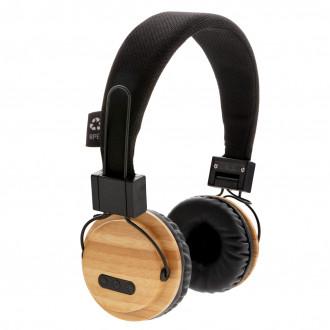 Bamboo wireless headphone