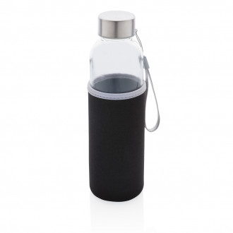 Glass bottle with neoprene sleeve