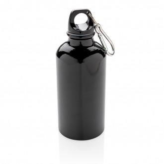 Aluminium reusable sport bottle with carabiner