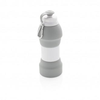 Foldable silicone sports bottle