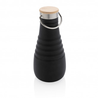 Leakproof silicone foldable bottle