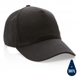 Impact 5panel 280gr Recycled cotton cap with AWARE™ tracer