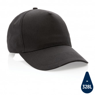 Impact 5 panel 190gr Recycled cotton cap with AWARE™ tracer