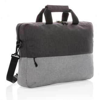 "Duo colour RPET 15.6"" RFID laptop bag PVC free"