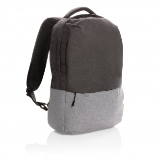 """Duo colour RPET 15.6"""" RFID laptop backpack PVC free"""