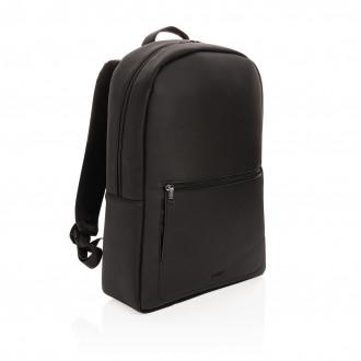 Swiss Peak deluxe vegan leather laptop backpack PVC free