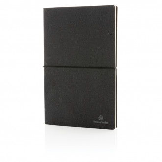 A5 recycled leather notebook