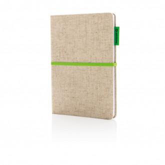 A5 Eco jute notebook