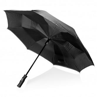 "Swiss Peak 23"" auto open reversible umbrella"
