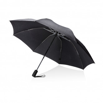 "Swiss Peak 23"" foldable reversible auto open/close umbrella"
