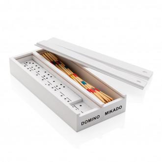 Deluxe mikado/domino in wooden box